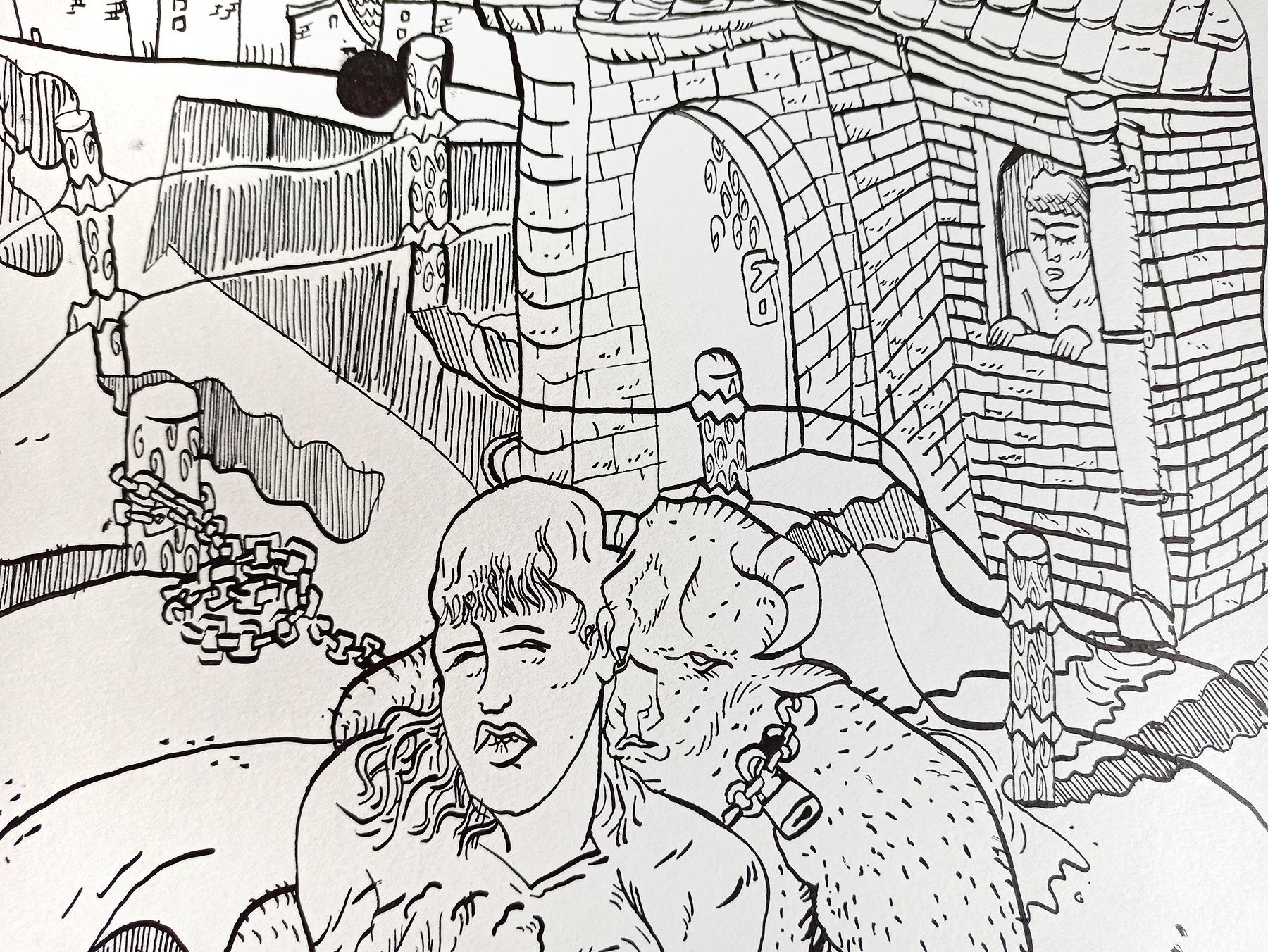 tegninger, ekspressionistiske, figurative, illustrative, kroppe, tegneserier, mennesker, seksualitet, sorte, hvide, artliner, blæk, papir, samtidskunst, erotiske, kvindelig, moderne, moderne-kunst, seksuel, kvinder, Køb original kunst og kunstplakater. Malerier, tegninger, limited edition kunsttryk & plakater af dygtige kunstnere.