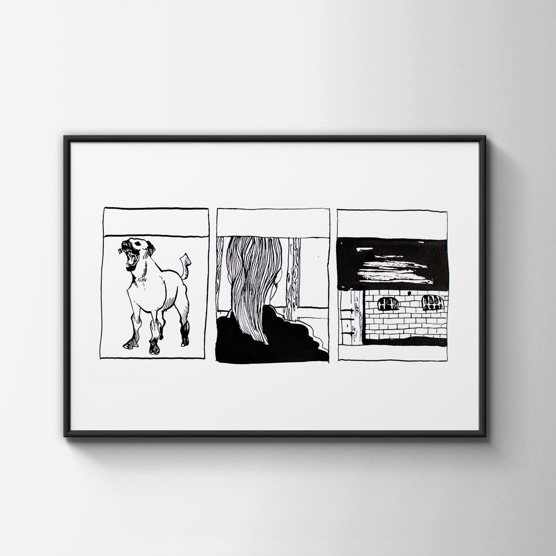 tegninger, dyr, illustrative, monokrome, portræt, arkitektur, tegneserier, hverdagsliv, kæledyr, sorte, hvide, blæk, papir, sort-hvide, bygninger, hunde, skitse, Køb original kunst og kunstplakater. Malerier, tegninger, limited edition kunsttryk & plakater af dygtige kunstnere.