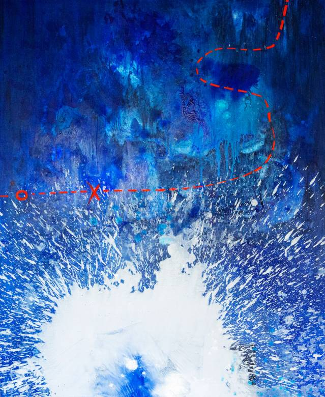 malerier, abstrakte, farverige, landskab, natur, havet, sejlads, himmel, blå, hvide,  bomuldslærred, olie, abstrakte-former, samtidskunst, dansk, design, interiør, bolig-indretning, moderne, moderne-kunst, nordisk, skandinavisk, sceneri, vand, Køb original kunst og kunstplakater. Malerier, tegninger, limited edition kunsttryk & plakater af dygtige kunstnere.