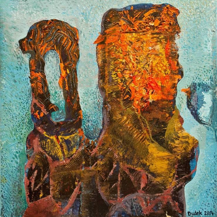 malerier, abstrakte, farverige, surrealistiske, stemninger, bevægelse, himmel, brune, røde, turkise, gule, akryl,  bomuldslærred, abstrakte-former, ekspressionisme, levende, Køb original kunst og kunstplakater. Malerier, tegninger, limited edition kunsttryk & plakater af dygtige kunstnere.