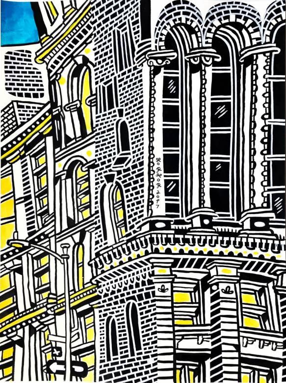tegninger, malerier, farverige, figurative, grafiske, illustrative, pop, arkitektur, tegneserier, sorte, hvide, gule, akryl, blæk, papir, tusch, arkitektoniske, bygninger, byer, kaffe, samtidskunst, københavn, dansk, dekorative, design, huse, interiør, bolig-indretning, moderne, moderne-kunst, nordisk, pop-art, plakater, skandinavisk, Køb original kunst og kunstplakater. Malerier, tegninger, limited edition kunsttryk & plakater af dygtige kunstnere.