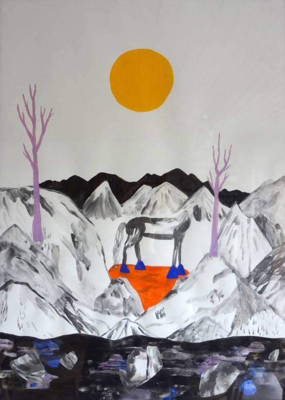 surrealistisk maleri med kraffuldt udtryk, online kunst galleri