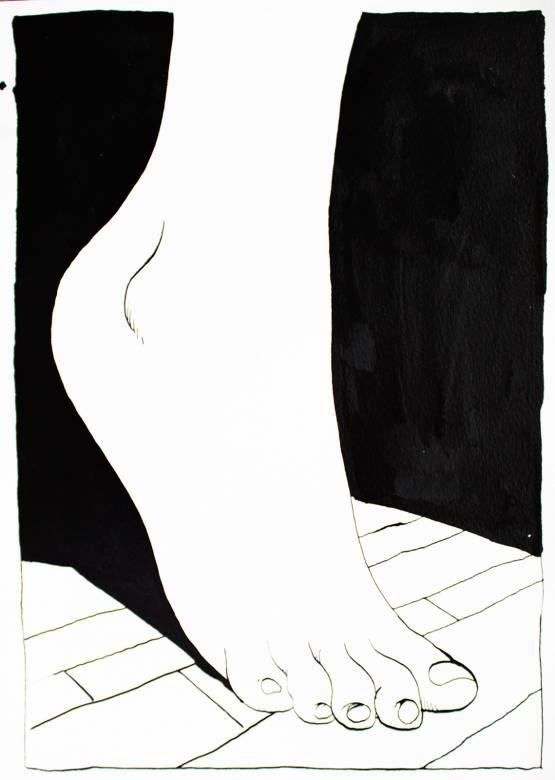 stærke og udtryksfulde kunst illustrationer og tegninger, dygtig dansk illustrator, tegner, sort hvid