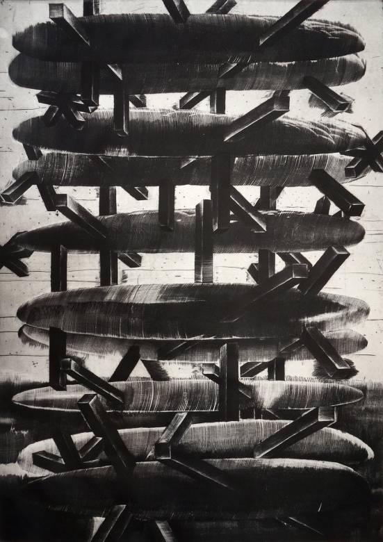 kunsttryk, engraveringer, abstrakte, æstetiske, monokrome, bevægelse, mønstre, sorte, grå, hvide, blæk, papir, abstrakte-former, dansk, dekorative, interiør, bolig-indretning, nordisk, skandinavisk, Køb original kunst og kunstplakater. Malerier, tegninger, limited edition kunsttryk & plakater af dygtige kunstnere.