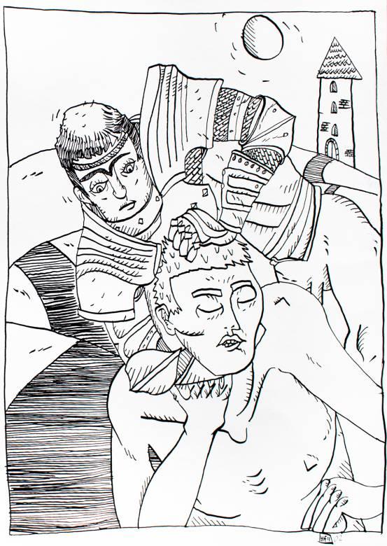 Kunst erotik sex undertrykkelse sm, tegning, vold, piger, kvinder, dominans,