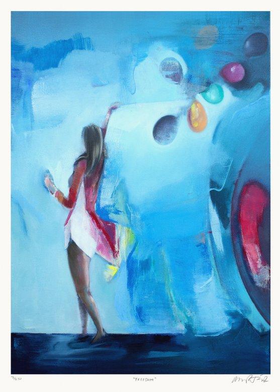 plakater-posters-kunsttryk, giclee-tryk, farverige, børnevenlige, figurative, illustrative, pop, kroppe, bevægelse, mennesker, himmel, blå, røde, papir, samtidskunst, dansk, design, kvindelig, interiør, bolig-indretning, moderne, moderne-kunst, nordisk, fest, plakater, skandinavisk, kvinder, Køb original kunst og kunstplakater. Malerier, tegninger, limited edition kunsttryk & plakater af dygtige kunstnere.