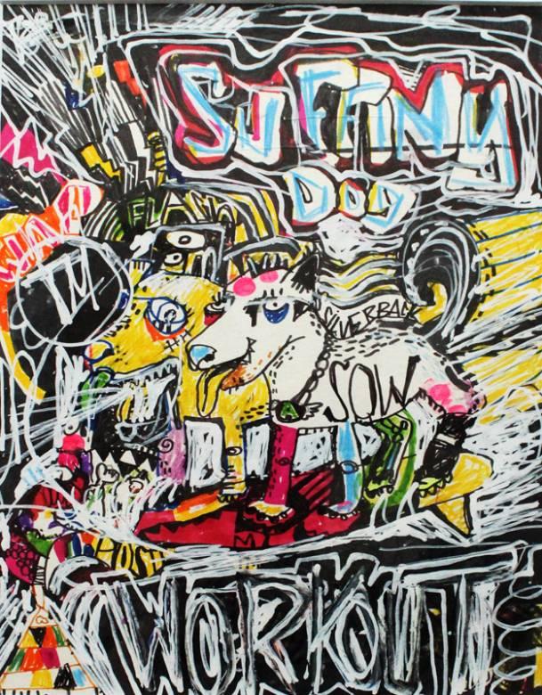 tegninger, abstrakte, dyr, farverige, pop, kæledyr, sorte, røde, hvide, gule, artliner, papir, tusch, blyant, pop-art, levende, Køb original kunst af den højeste kvalitet. Malerier, tegninger, limited edition kunsttryk & plakater af dygtige kunstnere.