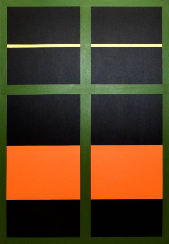 bedste kunst online, æstetisk minimalistisk maleri, enkelt, stilrent, linjer, orange, lilla, grafisk, design