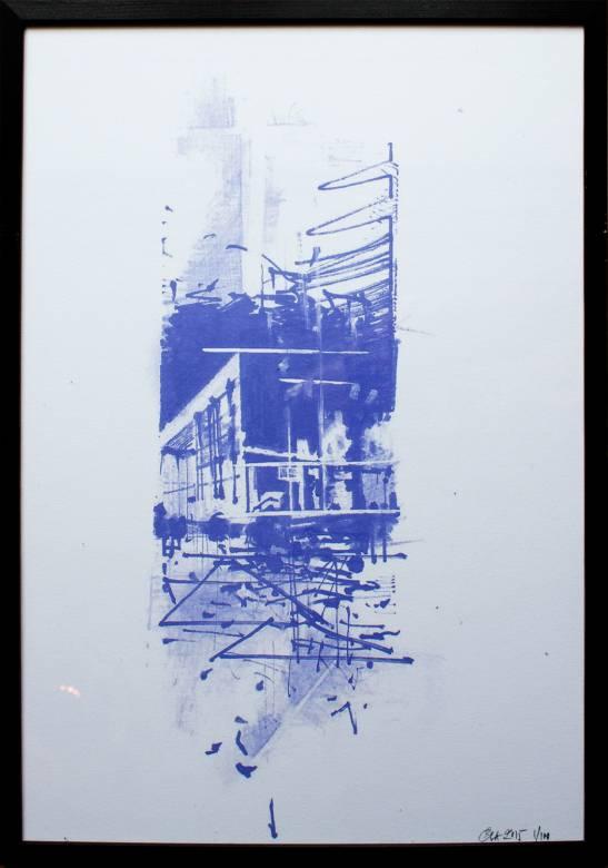 kunsttryk, gliceé, ekspressionistiske, geometriske, arkitektur, blå, hvide, blæk, papir, abstrakte-former, arkitektoniske, bygninger, ekspressionisme, Køb original kunst af den højeste kvalitet. Malerier, tegninger, limited edition kunsttryk & plakater af dygtige kunstnere.