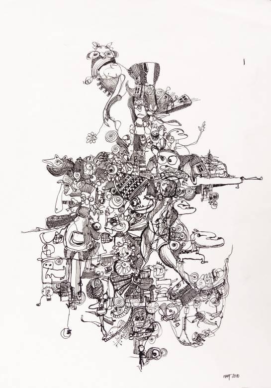 tegninger, børnevenlige, illustrative, monokrome, dyreliv, kroppe, tegneserier, mønstre, sorte, hvide, blæk, papir, abstrakte-former, sjove, sort-hvide, bygninger, kalligrafi, sød, dansk, dekorative, design, familie, interiør, bolig-indretning, moderne, moderne-kunst, nordisk, skandinavisk, Køb original kunst og kunstplakater. Malerier, tegninger, limited edition kunsttryk & plakater af dygtige kunstnere.