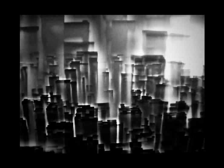 landskab by tårne skygger 3d gentagelse struktur Sort hvide grå foto kunstfotografi grafiske minimalistiske visuelle former cirkel