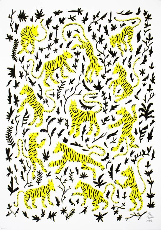 kunsttryk, silketryk, dyr, børnevenlige, figurative, grafiske, botanik, humor, mønstre, vilde-dyr, sorte, hvide, gule, blæk, papir, sjove, katte, samtidskunst, sød, dansk, dekorative, design, blomster, interiør, bolig-indretning, moderne, moderne-kunst, nordisk, plakater, skandinavisk, vilde-dyr, Køb original kunst og kunstplakater. Malerier, tegninger, limited edition kunsttryk & plakater af dygtige kunstnere.