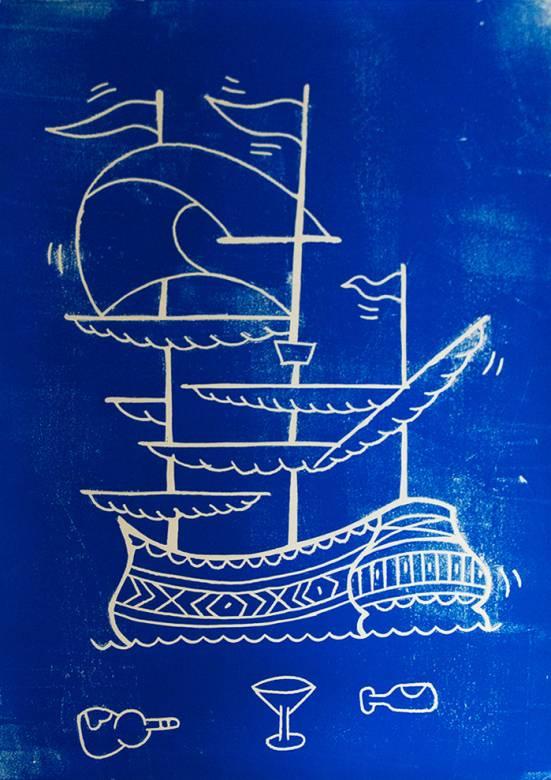kunsttryk, linoleumstryk, figurative, pop, havet, sejlads, transportmidler, blå, hvide, papir, både, samtidskunst, dansk, dekorative, design, interiør, bolig-indretning, moderne, moderne-kunst, nordisk, plakater, skandinavisk, street-art, fartøjer, vand, Køb original kunst og kunstplakater. Malerier, tegninger, limited edition kunsttryk & plakater af dygtige kunstnere.