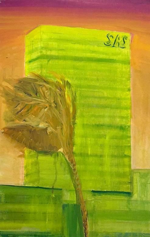 malerier, æstetiske, farverige, ekspressionistiske, geometriske, landskab, arkitektur, botanik, natur, himmel, orange, pink, gule, papir, olie, arkitektoniske, atmosfære, ekspressionisme, planter, realisme, levende, Køb original kunst af den højeste kvalitet. Malerier, tegninger, limited edition kunsttryk & plakater af dygtige kunstnere.