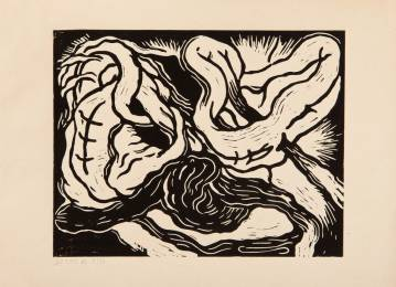 abstrakt tegning, hjerte, sort, stærk, dyster, mørk, moderne, organisk, kunst, talentfulde og dygtige kunstnere, original.