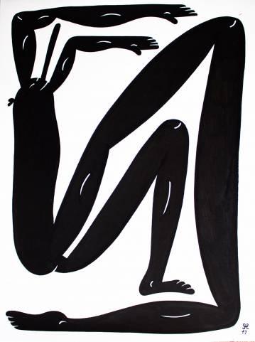 tegninger, figurative, monokrome, portræt, kroppe, humor, sport, sorte, hvide, papir, tusch, abstrakte-former, sjove, sort-hvide, Køb original kunst af den højeste kvalitet. Malerier, tegninger, limited edition kunsttryk & plakater af dygtige kunstnere.