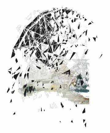 digital collage, Fotografi, digital collage på væg, digital print, Indrammet digital collage Indreammet fotografi, kunstfoto, kunstfotografi, fragmentering, dynamik, strukturer og historie. facebook, google, pinterest