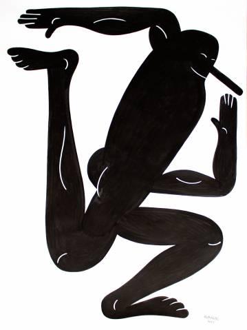 tegninger, figurative, monokrome, portræt, kroppe, humor, sorte, hvide, blæk, papir, abstrakte-former, underholdende, sort-hvide, mænd, Køb original kunst af den højeste kvalitet. Malerier, tegninger, limited edition kunsttryk & plakater af dygtige kunstnere.