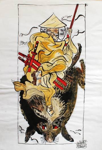 stærke og udtryksfulde kunst illustrationer og tegninger, dygtig dansk illustrator, tegner, faverige tt
