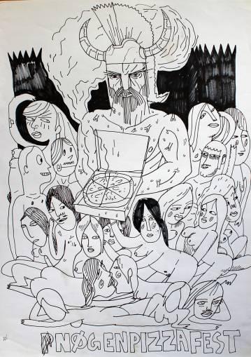 tegninger, illustrative, monokrome, surrealistiske, kroppe, tegneserier, seksualitet, sorte, hvide, papir, tusch, sort-hvide, mad, mænd, seksuel, kvinder, Køb original kunst og kunstplakater. Malerier, tegninger, limited edition kunsttryk & plakater af dygtige kunstnere.