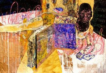 plakater-posters-kunsttryk, giclee-tryk, farverige, ekspressionistiske, illustrative, kroppe, stemninger, bevægelse, mennesker, sorte, brune, pink, gule, blæk, papir, samtidskunst, dansk, dekorative, design, ekspressionisme, ansigter, interiør, bolig-indretning, mænd, moderne, moderne-kunst, nordisk, plakater, tryk, skandinavisk, Køb original kunst og kunstplakater. Malerier, tegninger, limited edition kunsttryk & plakater af dygtige kunstnere.