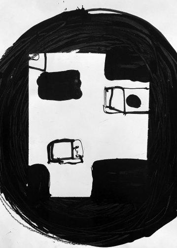 tegninger, abstrakte, grafiske, minimalistiske, mennesker, sorte, akryl, kridt, abstrakte-former, Køb original kunst og kunstplakater. Malerier, tegninger, limited edition kunsttryk & plakater af dygtige kunstnere.