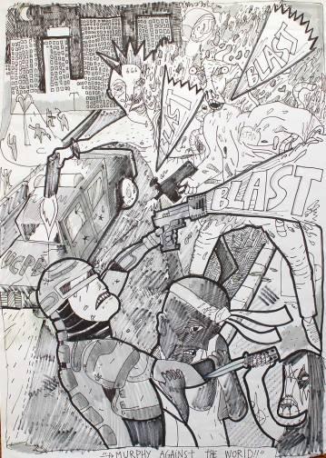 tegninger, figurative, geometriske, portræt, surrealistiske, arkitektur, sorte, hvide, artliner, papir, tusch, fantasi, Køb original kunst og kunstplakater. Malerier, tegninger, limited edition kunsttryk & plakater af dygtige kunstnere.