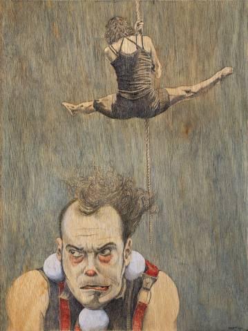 Cirkus plakat lavet for Cirkusmuseet i Hvidovre, Årets plakat 2014