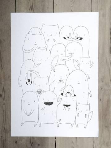 udtryksfulde kunst illustrationer og tegninger, dygtig dansk illustrator, tegner,
