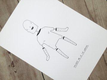 COLLECT ME IF I'M WRONG. En original illustration af My Buemann. Online kunst-galleri ARTUNIKA - Malerier, Illustrationer, Tegninger og Fotokunst