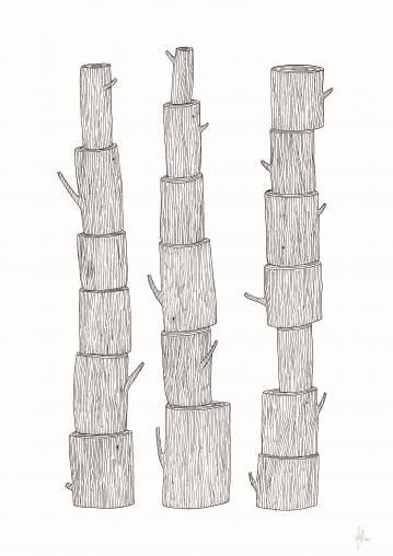 plakater-posters-kunsttryk, giclee-tryk, børnevenlige, grafiske, minimalistiske, botanik, natur, sorte, hvide, blæk, papir, sød, dansk, dekorative, design, interiør, bolig-indretning, nordisk, plakater, tryk, skandinavisk, træer, Køb original kunst og kunstplakater. Malerier, tegninger, limited edition kunsttryk & plakater af dygtige kunstnere.