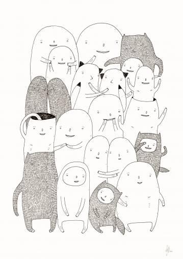 kunsttryk, gicleé, børnevenlige, illustrative, minimalistiske, tegneserier, børn, humor, stemninger, kæledyr, sorte, hvide, blæk, papir, københavn, sød, dansk, dekorative, design, interiør, bolig-indretning, moderne, moderne-kunst, nordisk, plakater, tryk, skandinavisk, Køb original kunst og kunstplakater. Malerier, tegninger, limited edition kunsttryk & plakater af dygtige kunstnere.
