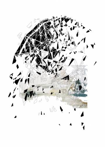 kunsttryk, fotografier, new-media, abstrakte, grafiske, arkitektur, mønstre, sorte, blæk, papir, arkitektoniske, sort-hvide, bygninger, kubisme, design, interiør, bolig-indretning, symmetri, Køb original kunst af den højeste kvalitet. Malerier, tegninger, limited edition kunsttryk & plakater af dygtige kunstnere.