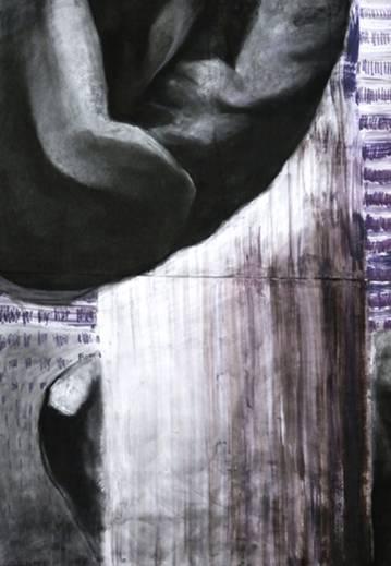 tegninger, abstrakte, æstetiske, figurative, portræt, kroppe, mønstre, seksualitet, sorte, brune, violette, hvide, akryl, kul, papir, abstrakte-former, mænd, nøgenhed, Køb original kunst af den højeste kvalitet. Malerier, tegninger, limited edition kunsttryk & plakater af dygtige kunstnere.