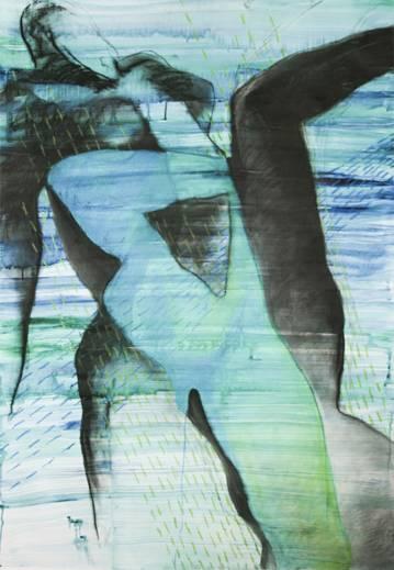 tegninger, abstrakte, æstetiske, figurative, portræt, kroppe, seksualitet, blå, grønne, hvide, akryl, kul, papir, abstrakte-former, nøgenhed, Køb original kunst af den højeste kvalitet. Malerier, tegninger, limited edition kunsttryk & plakater af dygtige kunstnere.