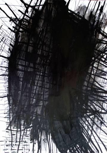 tegninger, abstrakte, ekspressionistiske, monokrome, mønstre, sorte, hvide, artliner, papir,  Lak, tusch, abstrakte-former, sort-hvide, samtidskunst, dansk, design, ekspressionisme, interiør, bolig-indretning, moderne, moderne-kunst, nordisk, skandinavisk, Køb original kunst og kunstplakater. Malerier, tegninger, limited edition kunsttryk & plakater af dygtige kunstnere.