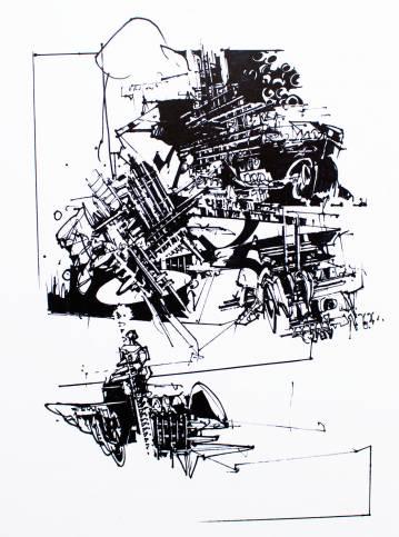 kunsttryk, gliceé, abstrakte, geometriske, monokrome, arkitektur, mønstre, sorte, blæk, papir, abstrakte-former, arkitektoniske, sort-hvide, Køb original kunst af den højeste kvalitet. Malerier, tegninger, limited edition kunsttryk & plakater af dygtige kunstnere.