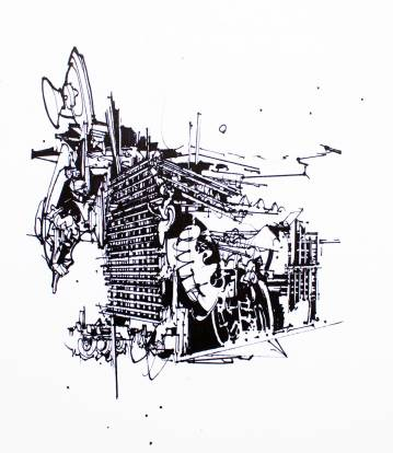 kunsttryk, gliceé, abstrakte, geometriske, monokrome, arkitektur, mønstre, sorte, hvide, blæk, papir, abstrakte-former, arkitektoniske, sort-hvide, Køb original kunst af den højeste kvalitet. Malerier, tegninger, limited edition kunsttryk & plakater af dygtige kunstnere.