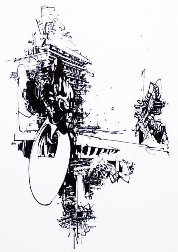 kunsttryk, gliceé, abstrakte, geometriske, monokrome, arkitektur, mønstre, sorte, hvide, blæk, papir, abstrakte-former, arkitektoniske, sort-hvide, bygninger, Køb original kunst af den højeste kvalitet. Malerier, tegninger, limited edition kunsttryk & plakater af dygtige kunstnere.