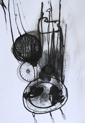 abstrakte illustrationer og maleri med grålige farver, online kunst galleri