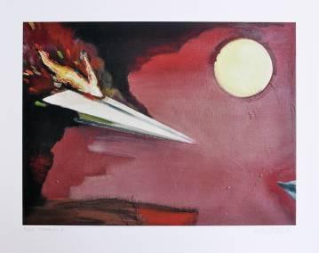 kunsttryk, gliceé, figurative, surrealistiske, himmel, transportmidler, sorte, røde, blæk, papir, fly, flyvemaskiner, atmosfære, samtidskunst, dansk, dekorative, design, ekspressionisme, interiør, bolig-indretning, moderne, moderne-kunst, nordisk, plakater, skandinavisk, Køb original kunst og kunstplakater. Malerier, tegninger, limited edition kunsttryk & plakater af dygtige kunstnere.