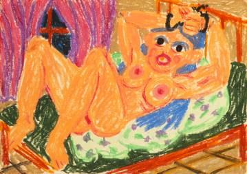 tegninger, farverige, figurative, illustrative, kroppe, humor, stemninger, religion, seksualitet, beige, grønne, lillae, papir, olie, sjove, samtidskunst, dansk, erotiske, kvindelig, feminist, interiør, bolig-indretning, moderne, moderne-kunst, nordisk, nøgen, skandinavisk, underlig, Køb original kunst og kunstplakater. Malerier, tegninger, limited edition kunsttryk & plakater af dygtige kunstnere.