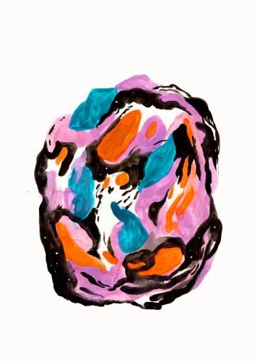 plakater-posters-kunsttryk, giclee-tryk, abstrakte, farverige, grafiske, illustrative, botanik, bevægelse, mønstre, sorte, blå, orange, lillae, blæk, papir, abstrakte-former, smukke, samtidskunst, dansk, dekorative, design, interiør, bolig-indretning, moderne, moderne-kunst, nordisk, romantiske, skandinavisk, Køb original kunst og kunstplakater. Malerier, tegninger, limited edition kunsttryk & plakater af dygtige kunstnere.