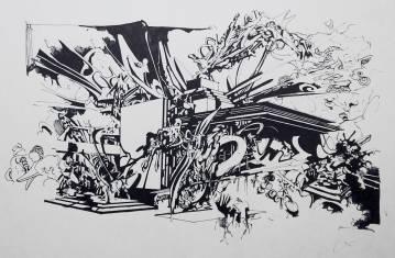online kunst, fede tegninger, arkitektur, fantastisk graffiti, street art, abstrakte illustrationer, abstrakt, dygtige kunstnere, det kongelige kunstakademi