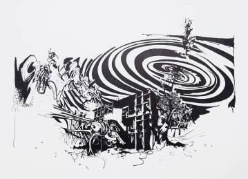 udstryksfuldt kunst, grafiske tegninger, arkitektur, graffiti, street art, abstrakte illustrationer, abstrakt, dygtige kunstnere, det kongelige kunstakademi