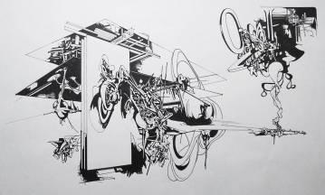 fed kunst, grafiske tegninger, arkitektur, graffiti, street art, abstrakte illustrationer, abstrakt, dygtige kunstnere, det kongelige kunstakademi