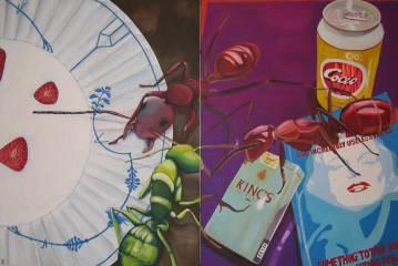 malerier, dyr, farverige, pop, still-life, hverdagsliv, insekter, blå, lillae, violette, akryl,  bomuldslærred, atmosfære, bøger, cigaretter, konceptuel, samtidskunst, dansk, dekorative, mad, interiør, bolig-indretning, moderne, moderne-kunst, nordisk, pop-art, skandinavisk, levende, Køb original kunst og kunstplakater. Malerier, tegninger, limited edition kunsttryk & plakater af dygtige kunstnere.
