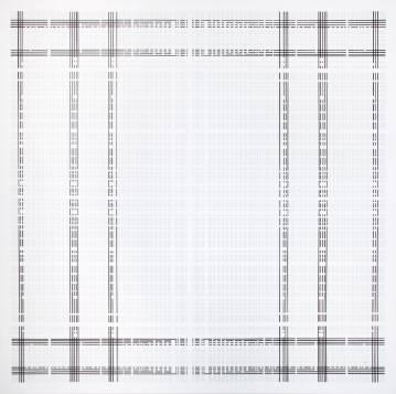 æstetisk minimalistisk maleri, enkelt, stilrent, linjer, sort, hvid, grafisk, design