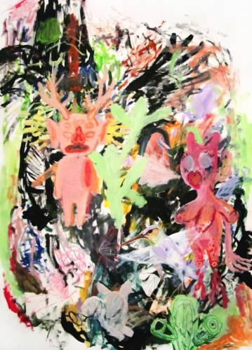 Kunst online gallerier, Store smukke abstrakte malerier med dyr, gave, gave, Indretningsbutik, talentfulde kunstnere