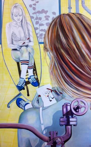 malerier-paintings-farverige-pop-art-kunst-galleri-rikke-line-andreasen-by-billede-kvinder